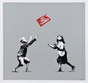 banksy art for sale no ball games