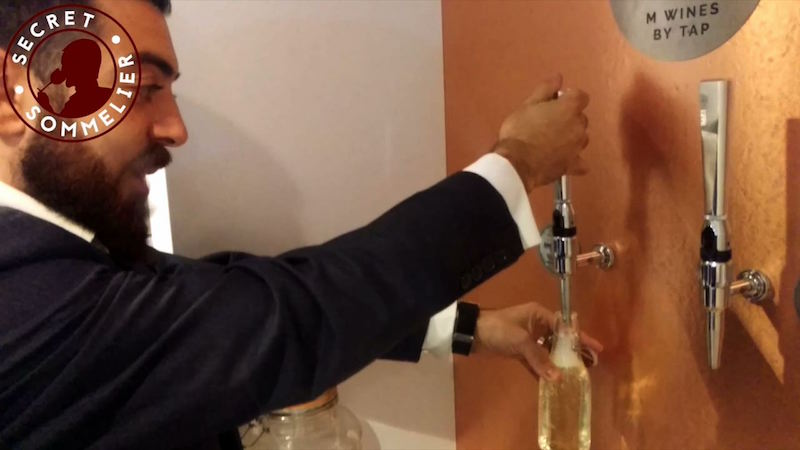 Draught wine from the tap arrives in London at M Restaurants