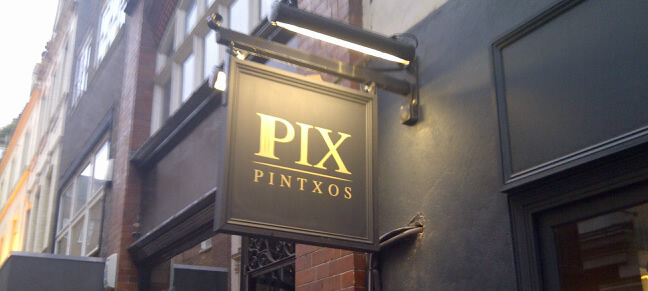 Pix Pintxos bar Soho Bateman Street London