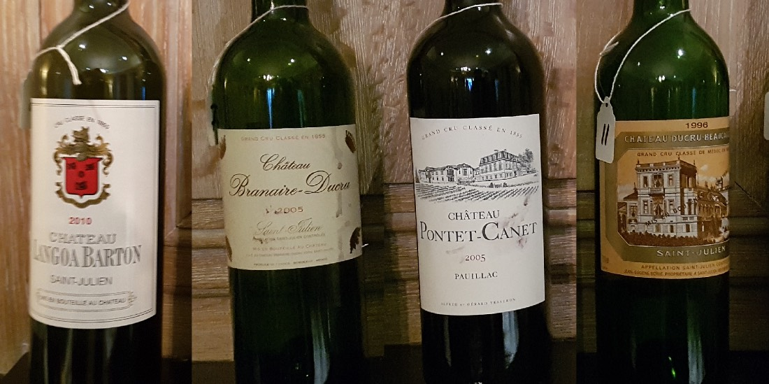 Saint Julien verses Pauillac tasting notes