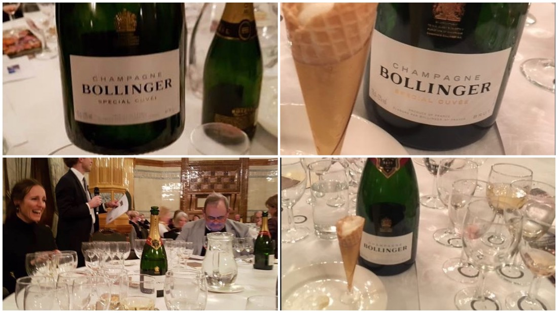 Champagne Bollinger Special Cuvee served with lemon sorbet