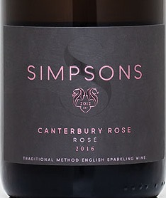 simpsons canterbury rose label