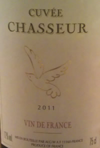 cuvee chasseur 2011 label