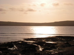 Sunset from daymer bay over the Camel estuary