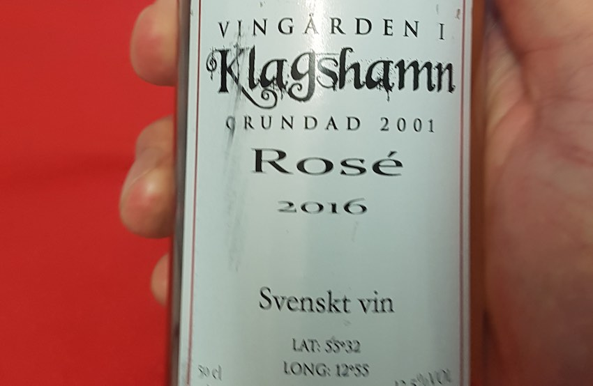 Swedish rosé Klagshamn